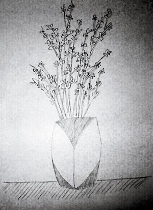 盼盼的铅笔画